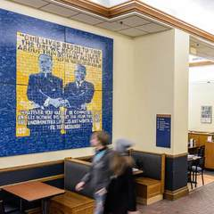 Mosaic of Rev. Theodore Hesburgh, C.S.C. and Rev. Martin Luther King, Jr.