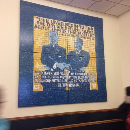Students, staff pay tribute to two leaders in civil and human rights