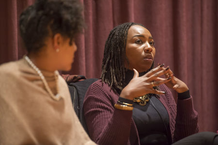 Black Lives Matter co-founders share message with overflow crowd
