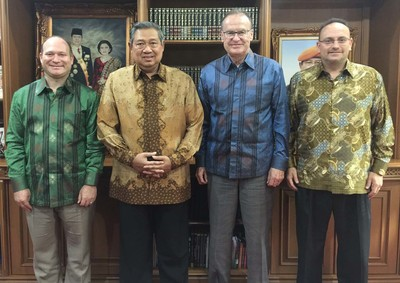 NDI leaders meet with Yudhoyono, former president of Indonesia