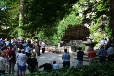 Prayer Vigil For Peace At The Grotto Of Our Lady Of Lourdes