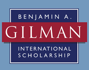 Two students named Gilman Scholars
