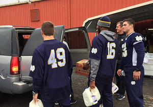 ND football helps fight childhood hunger