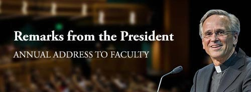 2016 Annual Address To Faculty