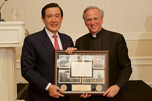 Ma Ying-jeou, former president of Taiwan, speaks at Notre Dame's Asia Leadership Forum