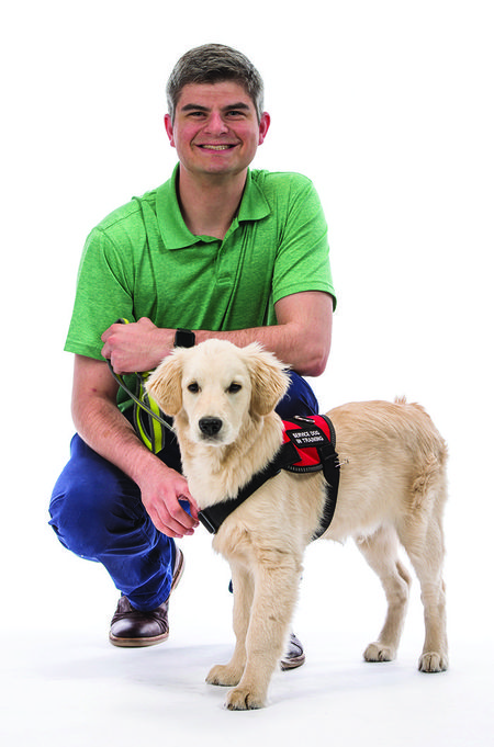 Hearing service dog Bodie 