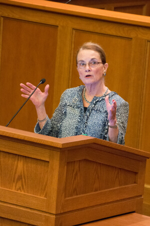 Judge Nora Barry Fischer, '76 J.D., offers advice to ND Law's incoming class