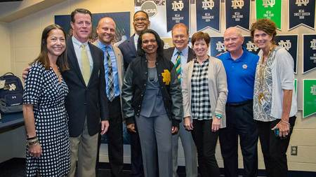 Notre Dame awards honorary monogram to Condoleezza Rice