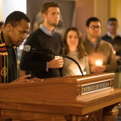 Midnight prayer service in honor of the Rev. Martin Luther King Jr. holiday. The event also marked the beginning of