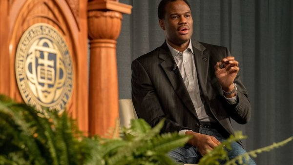 Corey Robinson, interviews his father, former NBA Hall of Famer and philanthropist, David Robinson.