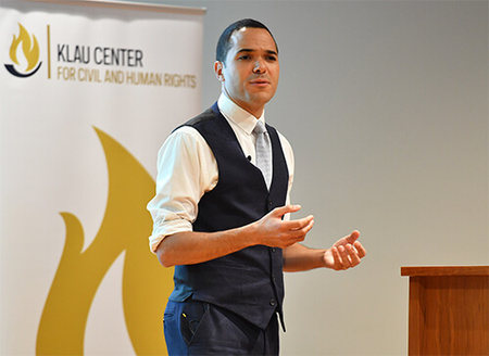 Alexander McLean delivers inaugural Klau Center lecture