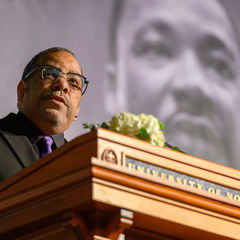 Rev. Hugh Page, Jr. emcees the 2020 Martin Luther King Jr. Celebration Luncheon
