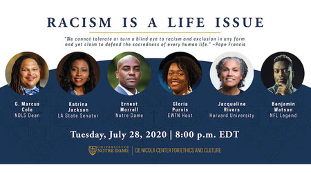 de Nicola Center for Ethics and Culture to host panel discussion about racism and the culture of life