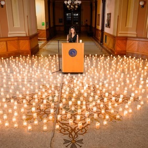 Rachel Ingal With Candles